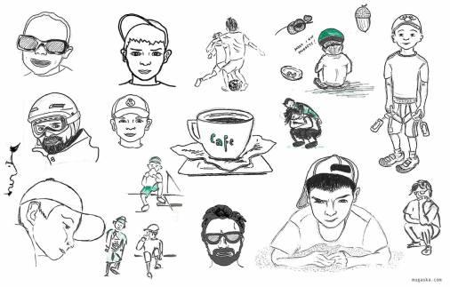 szkice na żywo i z fotografii