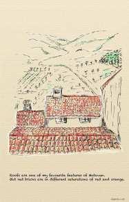 Croatia, Motovun - beatiful, old roofs