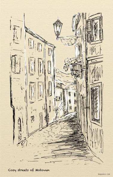 Croatia, Motovun - cosy streets