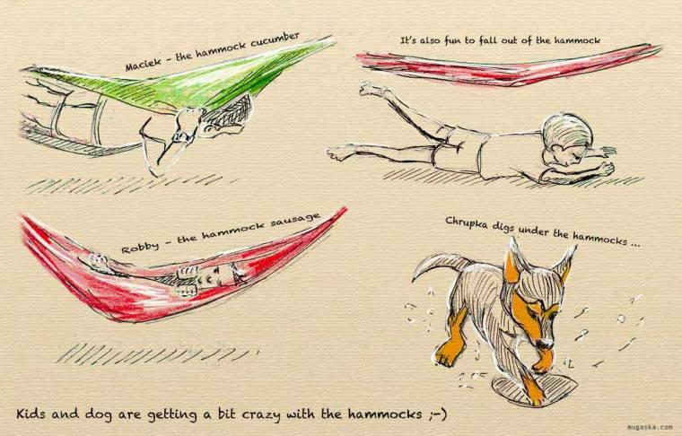 Croatia, Otocac - fun in hammocks