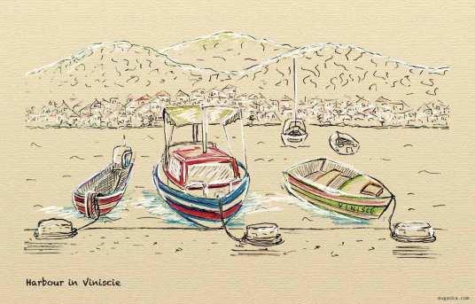 Croatia, Viniscie - harbour