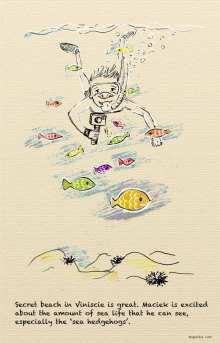 Croatia, Viniscie - Maciek is diving